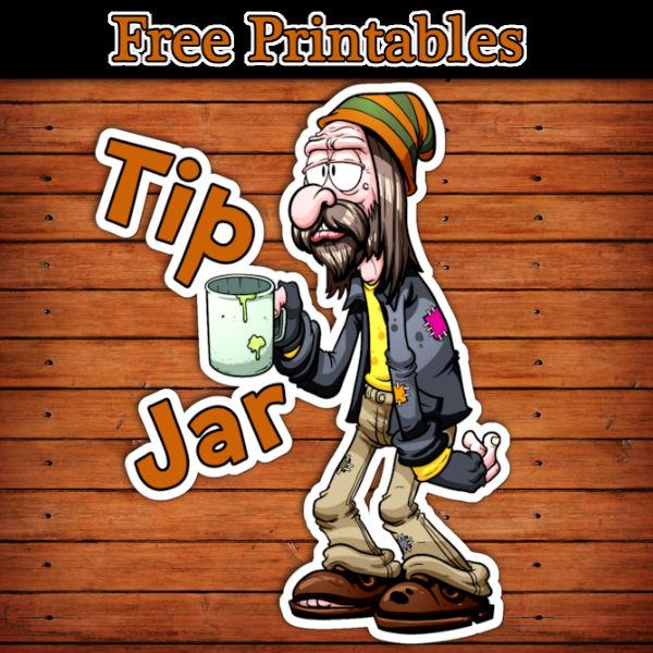 funny tip jar printable label free download