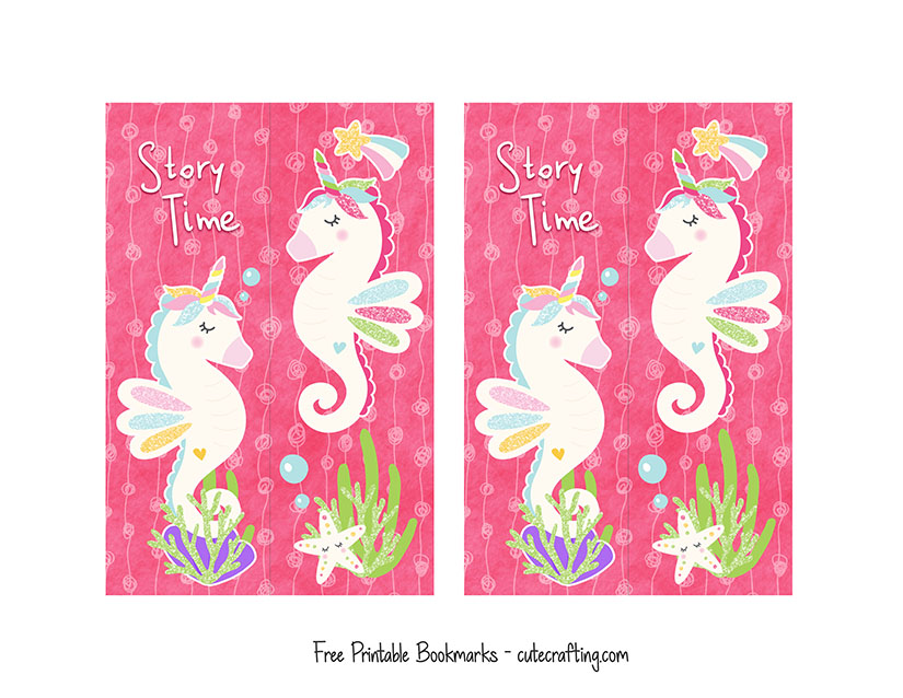 Seacorns Magical Seahorse Bookmarks For Kids