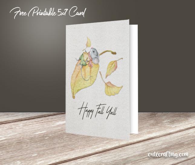 happy fall y'all printable card