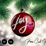 Joy Christmas SVG for Ornaments