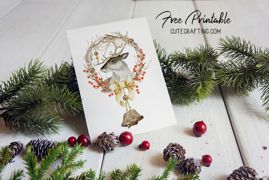 stag card free printable