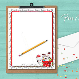 free printable christmas newsletter download
