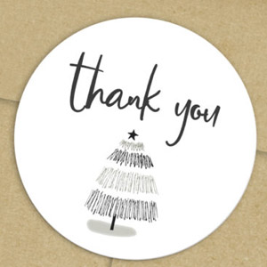 Christmas Thank You Labels Free Printable Stickers