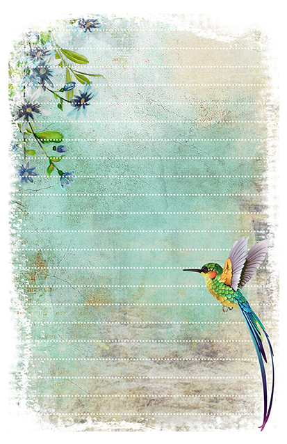 hummingbird stationery free printable