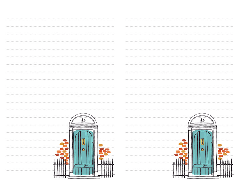 Blue Front Door Stationery