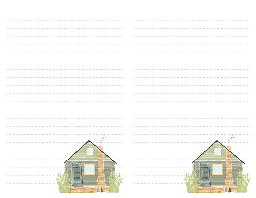Green Cabin Stationery