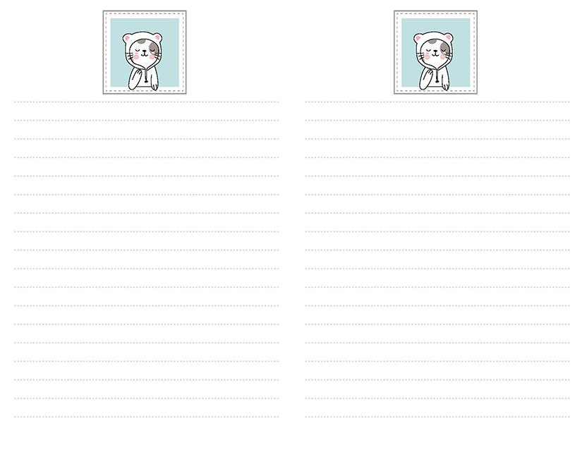 Cat Wearing Hoodie Stationery
