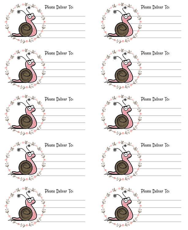 PDT Snail Mail Printable Labels