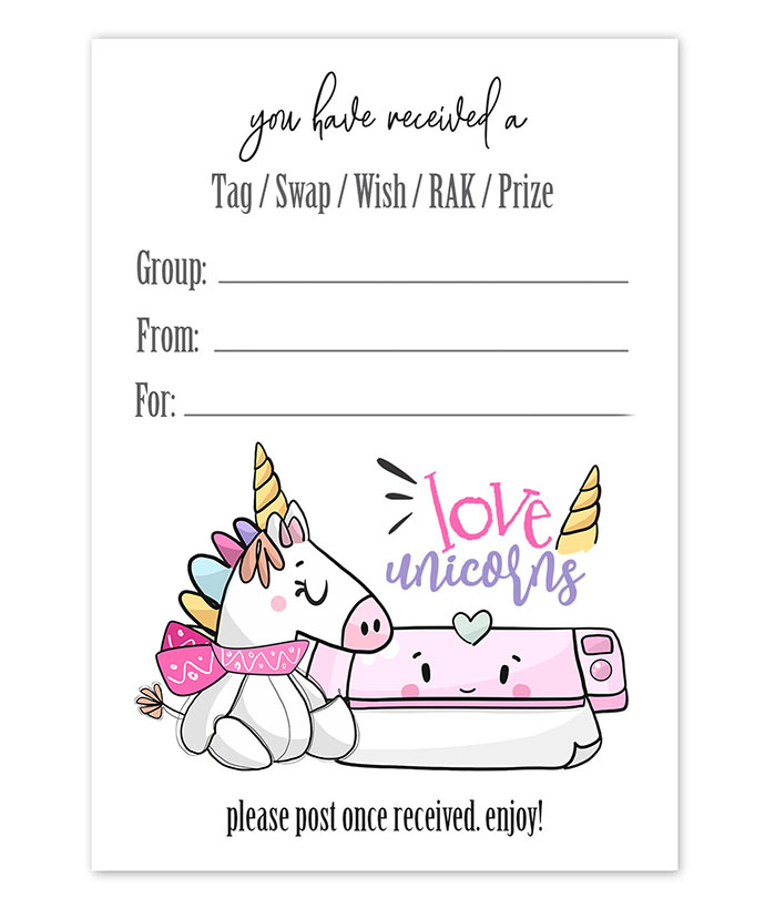 unicorn cutting machine snail mail tag inserts