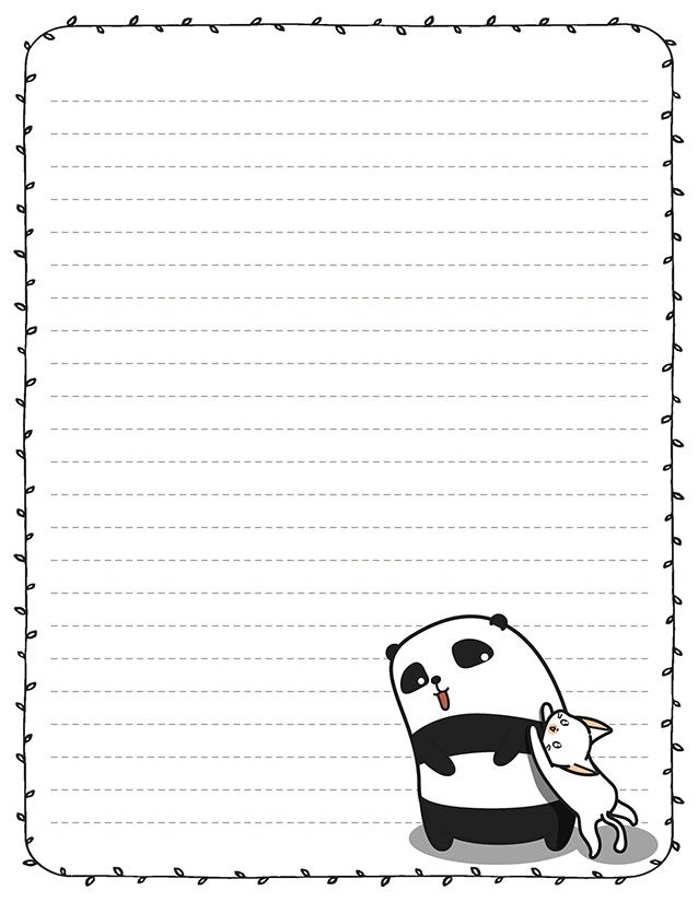 kawaii panda stationery kitty cat