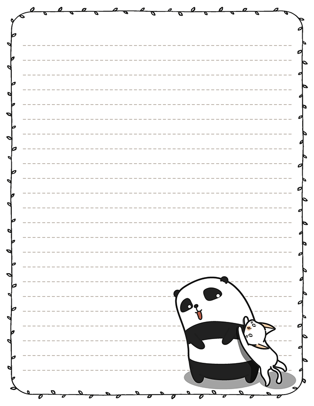 kawaii panda stationery kitty cat