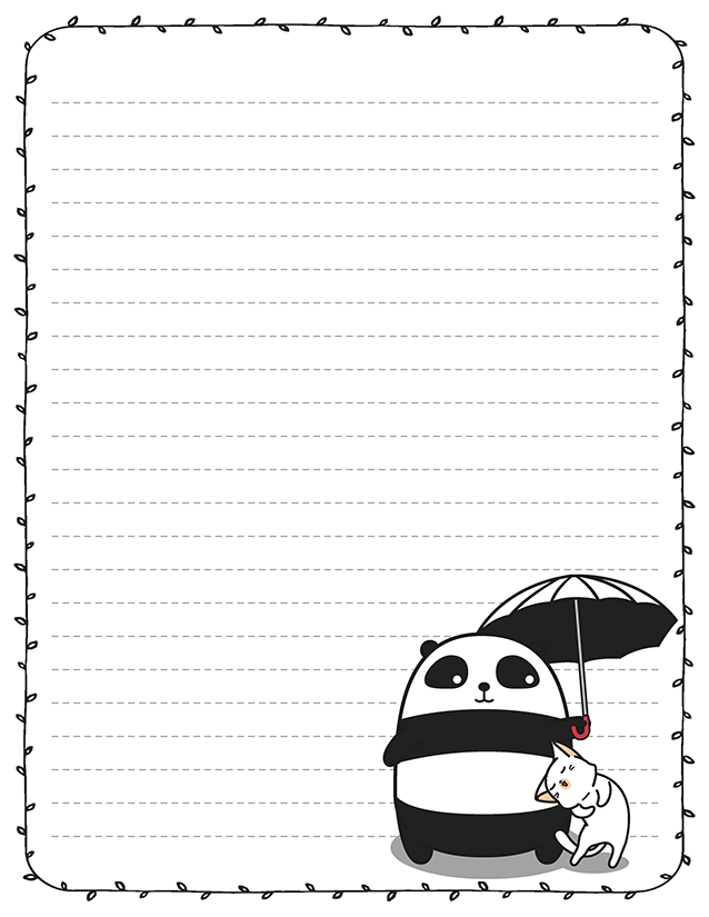 Fat kawaii panda stationery