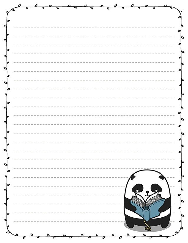 Panda Reading Book Stationery Book Club