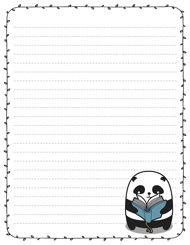 Panda Reading Book Stationery Book Club