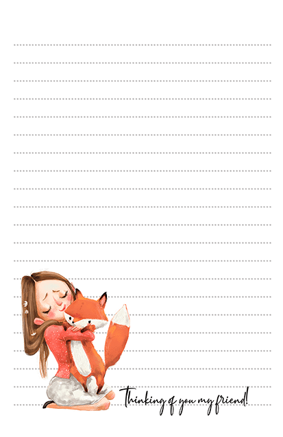 Fox Hugs Stationery