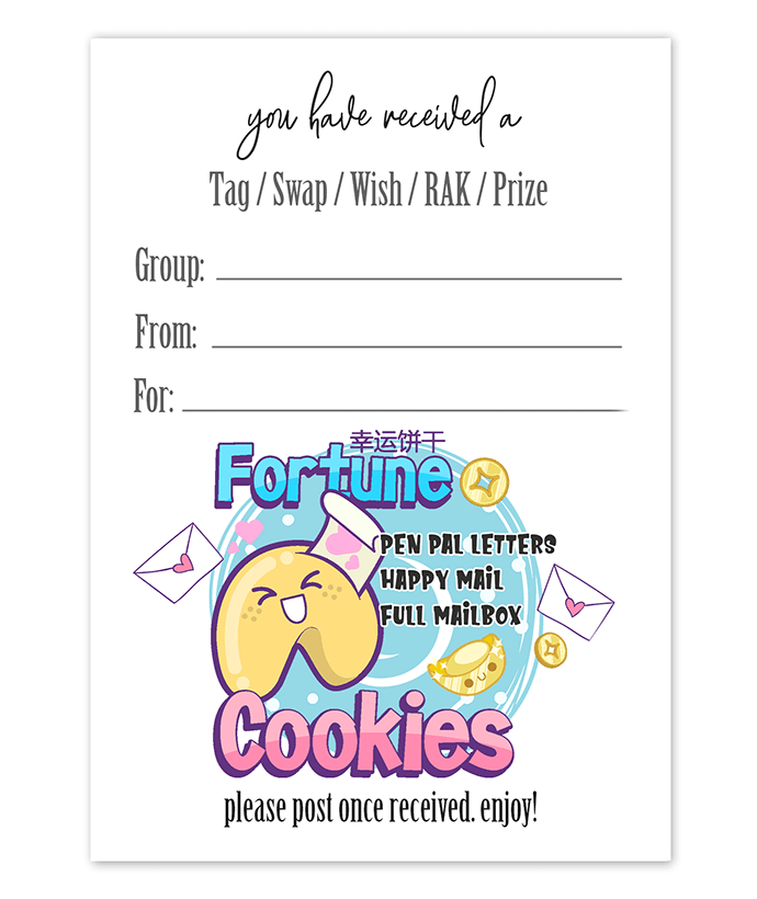 Tag Insert - Fortune Cookies