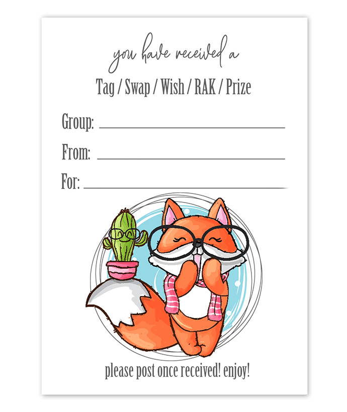 Tag Inserts - Free Printable