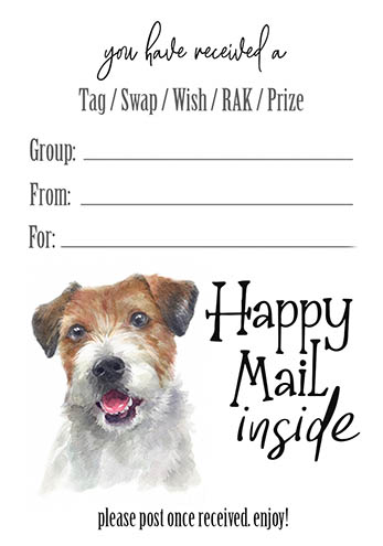 Jack Russell Tag Inserts