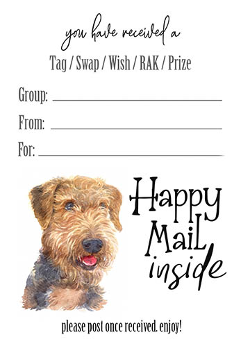 Airedale Tag Inserts