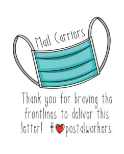 Thank You Mail Carrier Stickers