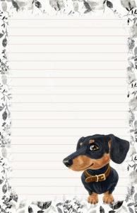 dachshund pen pal stationery