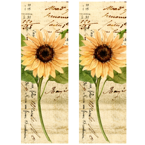 Vintage Sunflower Shaker Bookmarks Free Printable