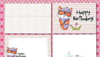 Free Printable Birthday Card Funny Cartoon Dog 5 7 Gender Neutral