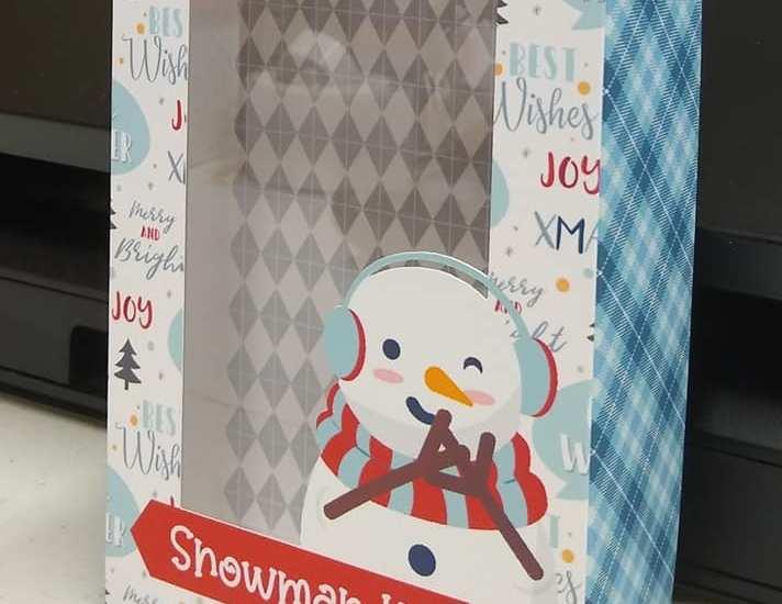 Snowman Kit Print & Cut Window Box Project
