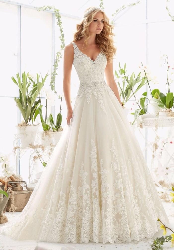 Backless Sexy Vintage Wedding Dress