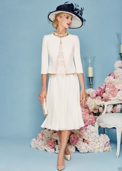 Princess Jewel Tea-length Chiffon Mother of the Bride Dress