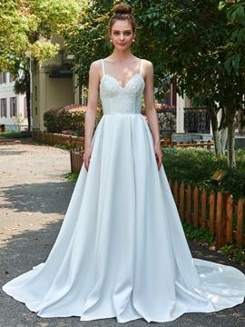 A-Line Garden Wedding Dress