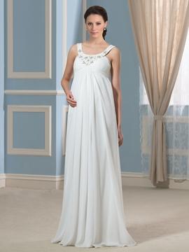 Beautiful Beading Straps Maternity Dress