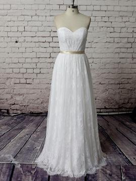 Beautiful Sweetheart A Line Lace Wedding Dress