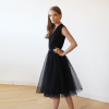 Black Sleeveless Tulle Midi Dress SALE 1081