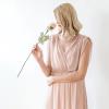 Blush Pink Sheer Chiffon Sleeveless Maxi Dress 1090
