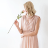Blush Pink Sheer Chiffon Sleeveless Maxi Dress 1090
