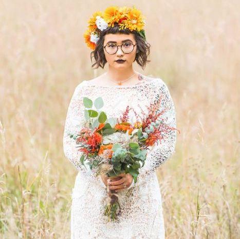 Bold Wildflower Wedding