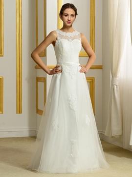 Casual A Line Wedding Dress