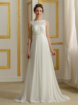 Casual Empire Chiffon Wedding Dress