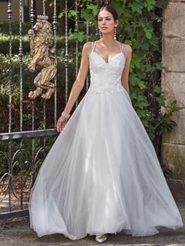 Comfortable Spaghetti Straps A Line Wedding Dress