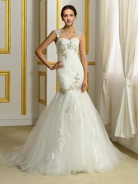 Exquisite Beading Mermaid Wedding Dress