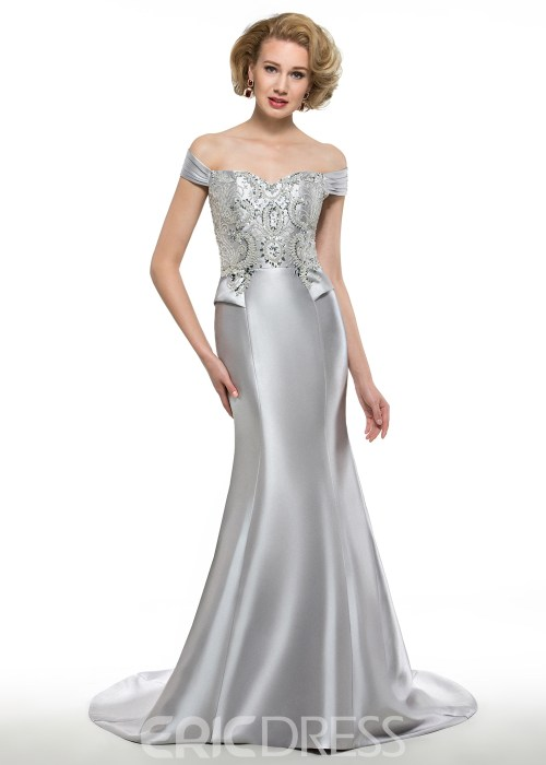Fancy Off The Shoulder Mermaid Long Mother Of The Bride Dress