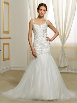 Gorgeous Backless Mermaid Wedding Dress