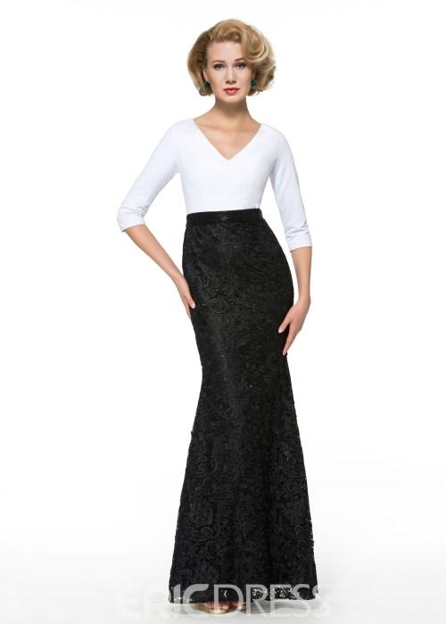 492479ea880 Half Sleeves Mermaid Lace Mother of the Bride Dress