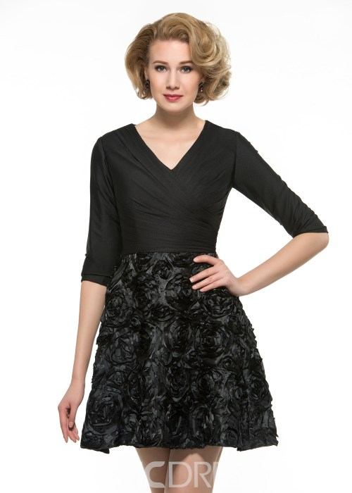 High Quality A Line Short Lace Mother Of The Bride Dress