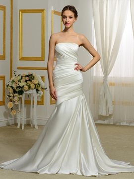 High Quality Strapless Mermaid Wedding Dress
