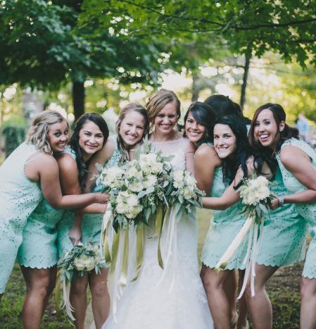 Lush Greens and Creams Vintage Wedding