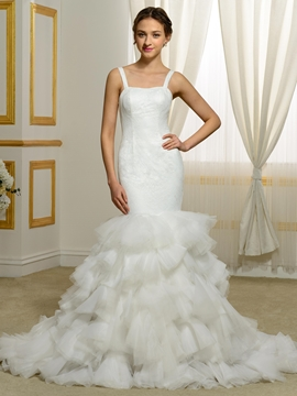 Modern Straps Mermaid Wedding Dress