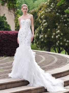 Sweetheart Beaded Mermaid Wedding Dress