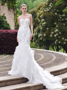 Sweetheart Beaded Mermaid Wedding Dress